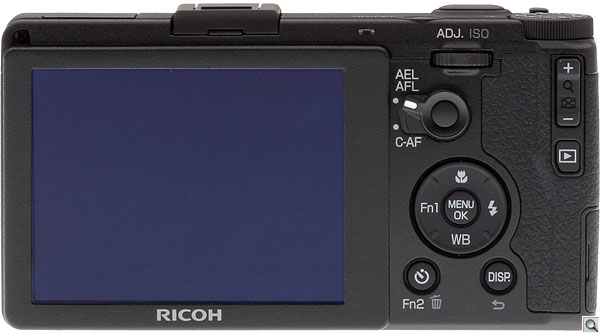 Ricoh GR review --  Rear view