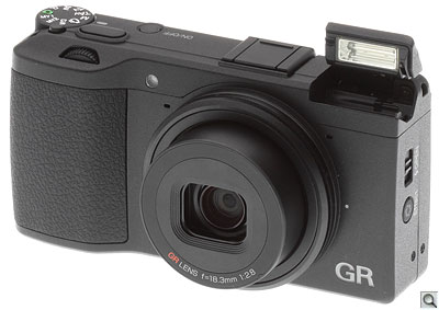 Ricoh GR review -- Front quarter view