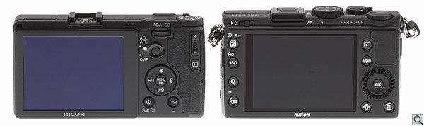 Ricoh GR review -- Versus the Coolpix A, from the rear