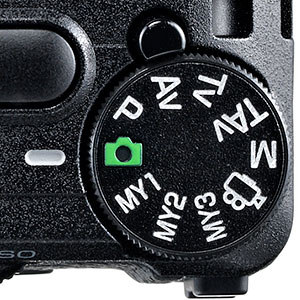 Ricoh GR review -- Mode dial