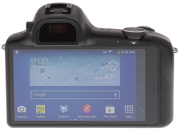 Samsung Galaxy NX Review -- rear view