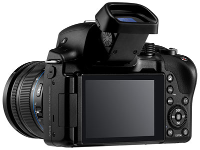Samsung NX30 review -- three quarter shot from rear