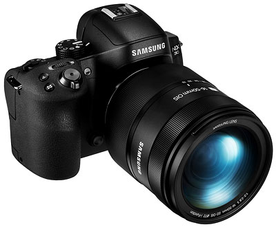 Samsung NX30 review -- three quarter right view