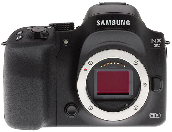 Samsung NX30 Review -- front view