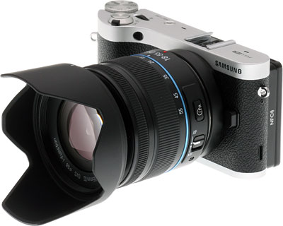 Samsung NX300 Review -- Front quarter view