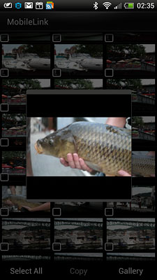 Samsung NX300 Review -- MobileLink screenshot