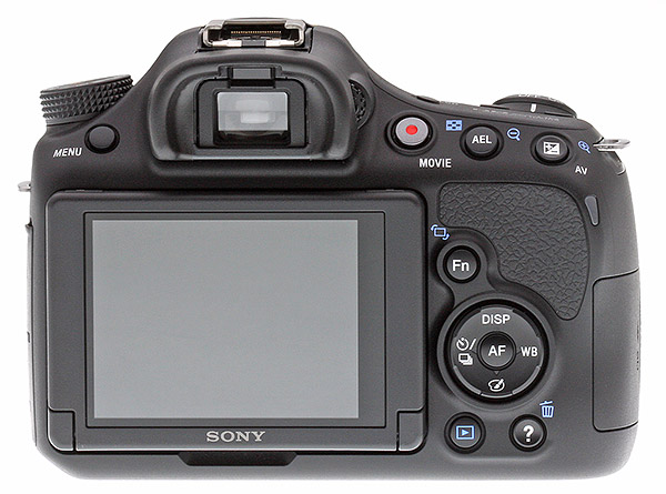 Sony A58 review -- Rear view