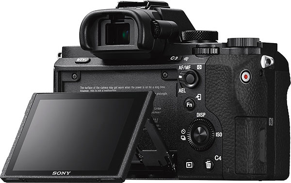 Sony A7 II Review -- rear view with LCD tilted up