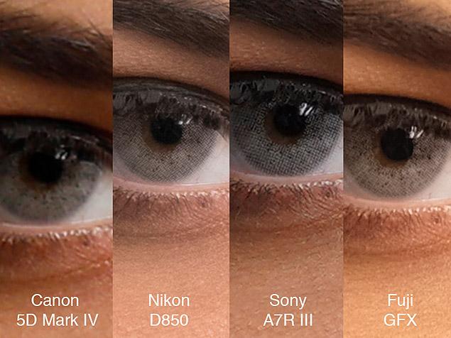 First Sony A7rIII Vs Fujifilm GFX 50S Nikon D850 Canon 5D MK IV Comparison