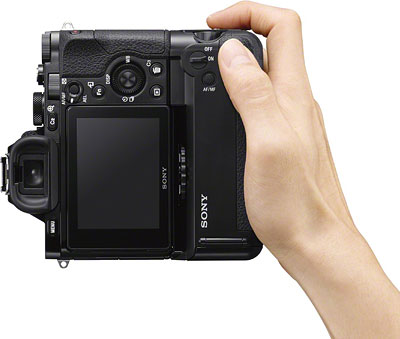 Sony A7S review -- Rear view in-hand