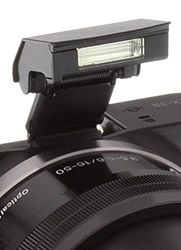 Sony NEX-3N Review -- Pop-up Flash