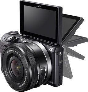 Sony NEX-5T Review -- LCD monitor articulation