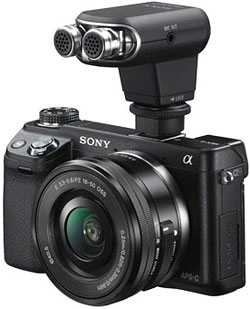 Sony NEX-6 with ECM-XYST1M external mic