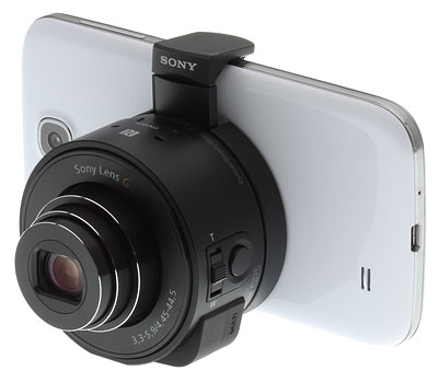 Sony QX10 review -- on phone