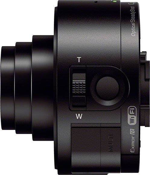 Sony QX10 review -- Left view