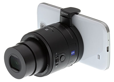 Sony QX100 review -- On phone