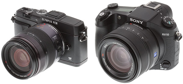 Sony RX10 review -- RX10 versus Olympus E-P5