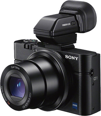 Sony RX100 II review -- RX100 II with electronic viewfinder