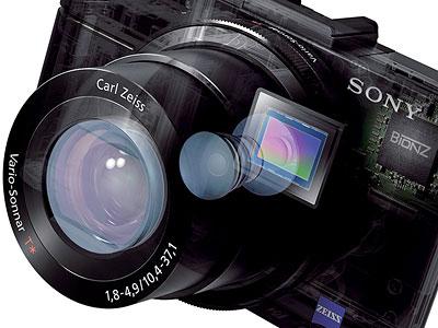 Sony RX100 II -- lens in cutaway