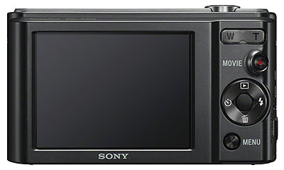 Sony W800 review -- rear quarter view
