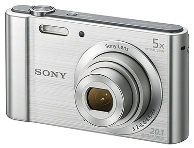Sony W800 review -- front quarter view
