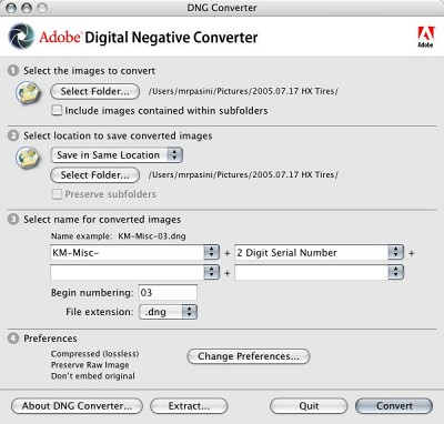 dng converter 8.8