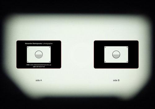 The camera bag photographers business cards designed like a advertisement colourmoves