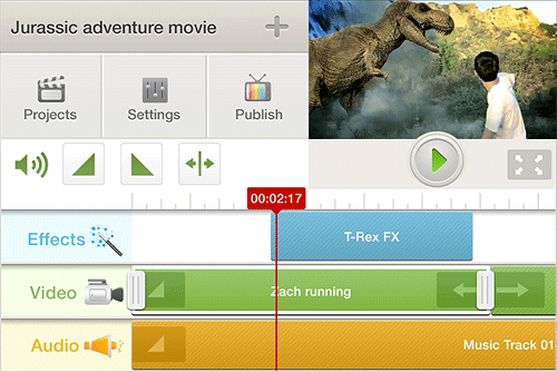 The beta version of Chairseven and App Creation Network's Cinefy in use. Photo provided by Chairseven and App Creation Network.