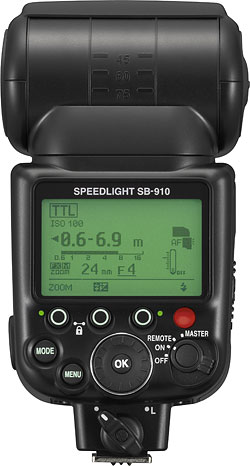 The Nikon SB-910 Speedlight is the company's new flagship flash strobe. Photo provided by Nikon Inc. Click for a bigger picture!