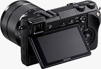 Sony's Alpha NEX-7 compact system camera. Photo provided by Sony Electronics Inc.