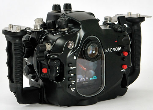 Rear view of Nauticam's NA-D7000V housing. Photo provided by Nauticam USA. Click for a bigger picture!