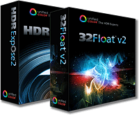 HDR Expose 2 and 32 Float v2 product packaging. Source images provided by Unified Color Technologies.