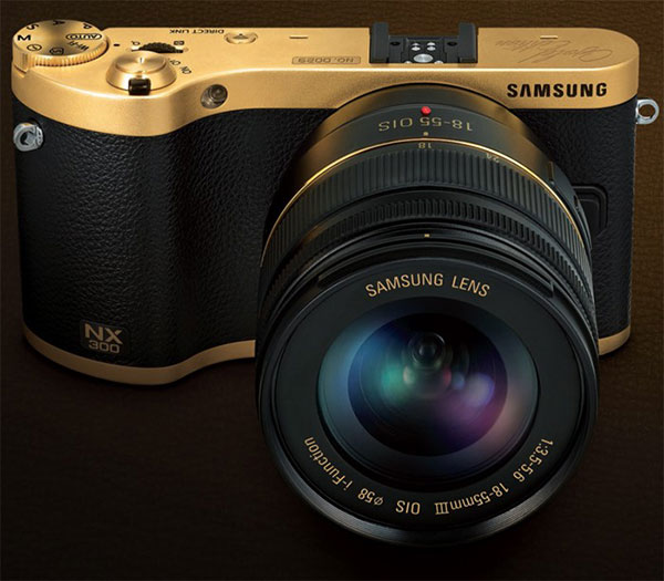 Limited edition, gold-plated Samsung NX300 camera on sale
