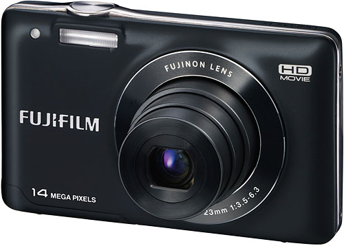 The Fuji JX500 has slightly lower sensor resolution, but uses a rechargeable battery pack. Image provided by Fujifilm North America Corp. Click for a bigger picture!