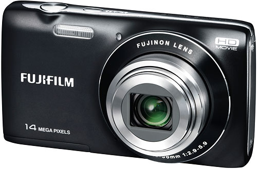 The Fuji JZ100 has 14 megapixel resolution and a 2.7-inch LCD panel. Image provided by Fujifilm North America Corp. Click for a bigger picture!