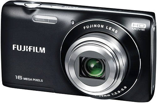 The Fuji JZ250 uses a larger 3.0-inch LCD panel. Image provided by Fujifilm North America Corp. Click for a bigger picture!