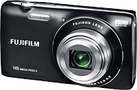 The Fuji JZ250 uses a larger 3.0-inch LCD panel. Image provided by Fujifilm North America Corp.
