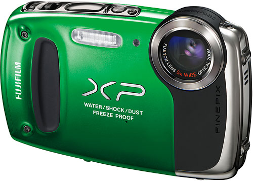 The Fuji XP50 is waterproof to 16.5 feet, and shockproof to five feet. Image provided by Fujifilm North America Corp. Click for a bigger picture!