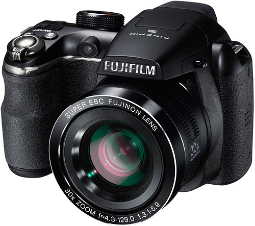 The Fuji FinePix S4500 keeps the 14 megapixel CCD , but swaps in a 30x zoom. Image provided by Fujifilm North America Corp. Click for a bigger picture!