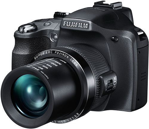 The Fuji SL300 adds a cold shoe, dual zoom toggles, and li-ion power source. Image provided by Fujifilm North America Corp. Click for a bigger picture!