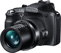 The Fuji SL300 adds a cold shoe, dual zoom toggles, and li-ion power source. Image provided by Fujifilm North America Corp.