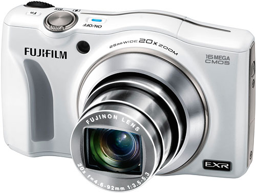 The Fujifilm F750EXR boasts a more powerful 20x optical zoom lens. Image provided by Fujifilm North America Corp. Click for a bigger picture!