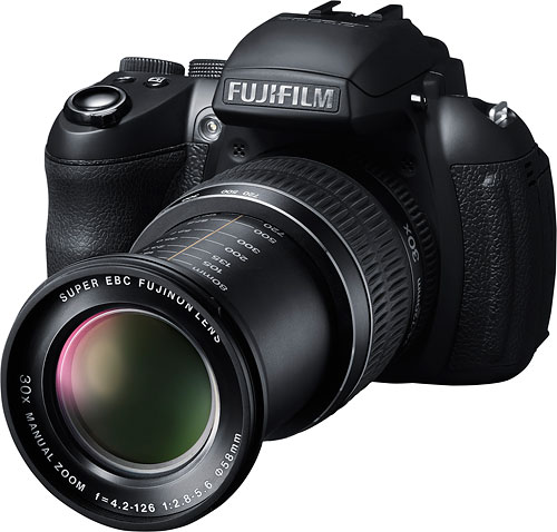 The Fujifilm HS30EXR boasts a high-res electronic viewfinder. Image provided by Fujifilm North America Corp. Click for a bigger picture!