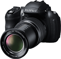 The Fujifilm HS30EXR boasts a high-res electronic viewfinder. Image provided by Fujifilm North America Corp.