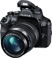 The Fujifilm X-S1 ultrazoom digital camera has a 24-624mm-equivalent lens. Image provided by Fujifilm North America Corp.