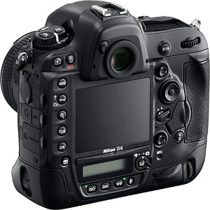 Nikon's D4 digital SLR. Photo provided by Nikon Inc. Click for a bigger picture!