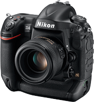 The Nikon D4 DSLR. Photo provided by Nikon. Click to read our Nikon D4 preview!