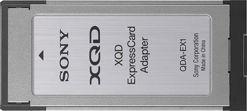 Sony QDA-EX1 ExpressCard adapter for the XQD format. Photo provided by Sony Corp. Click for a bigger picture!