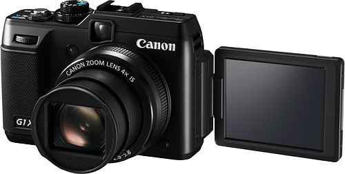 The Canon PowerShot G1 X is the company's first large-sensor, fixed-lens camera. Photo provided by Canon USA Inc. Click for a bigger picture!