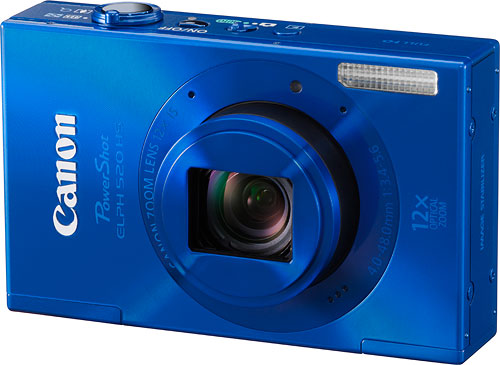 The ELPH 520 HS is said to be the world's slimmest 12x zoom with 28mm wide angle. Photo provided by Canon USA Inc. Click for a bigger picture!